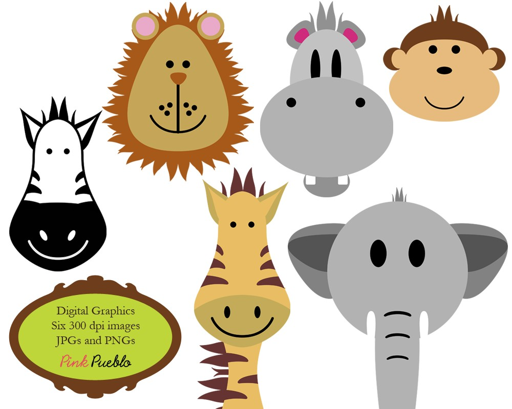 hight resolution of animals clip art clipart zoo jungle safari wild by pinkpueblo