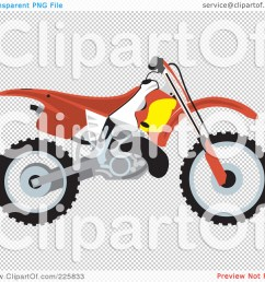1080x1024 royalty free rf clipart illustration of a red dirt bike by david  [ 1080 x 1024 Pixel ]
