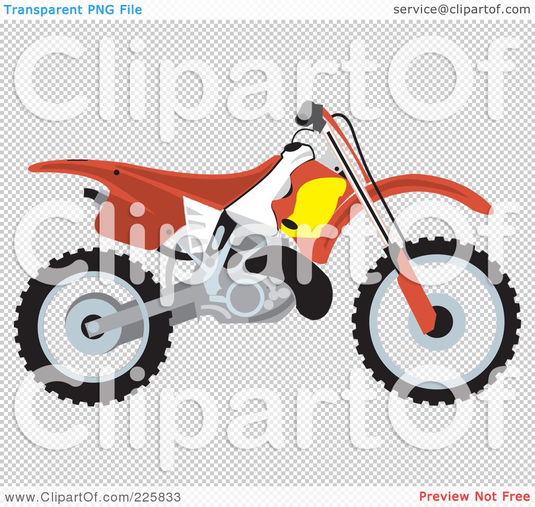 hight resolution of 1080x1024 royalty free rf clipart illustration of a red dirt bike by david