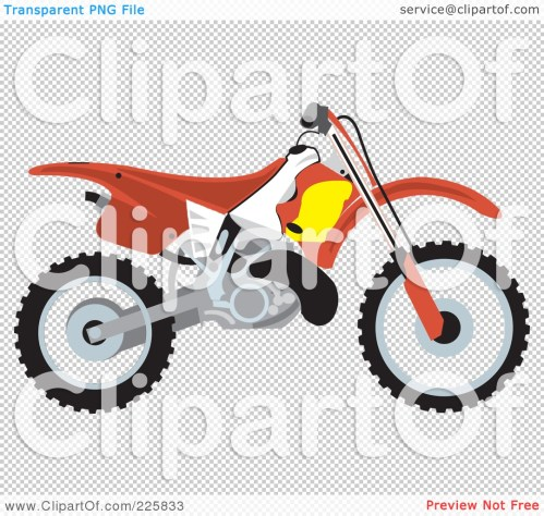 small resolution of 1080x1024 royalty free rf clipart illustration of a red dirt bike by david