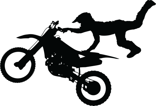 small resolution of free clipart of a silhouetted man catching air on a dirt bike 0001848