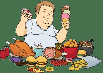 food eating cartoon junk fat feasting transparent pluspng