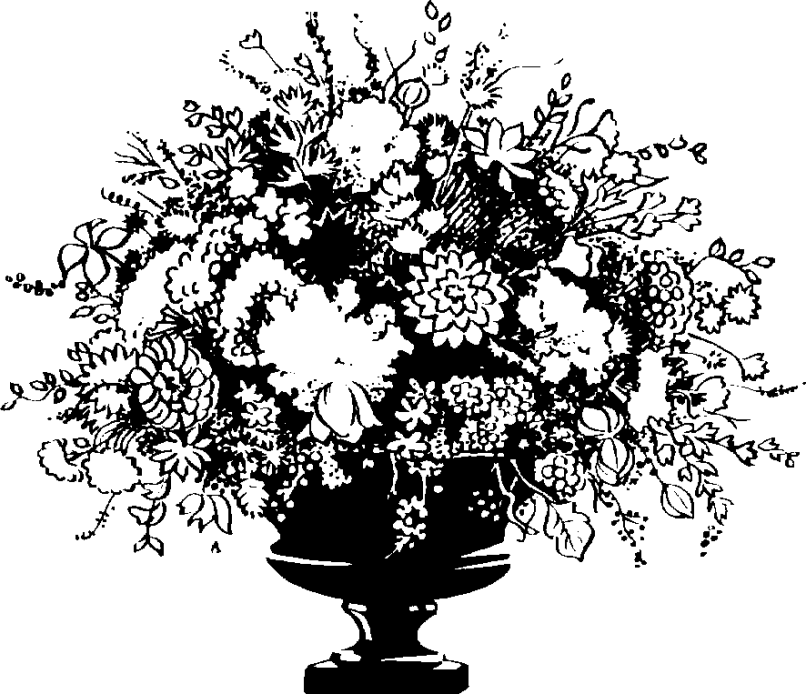Clipart Black And White Flowers In A Vase All About Clipart