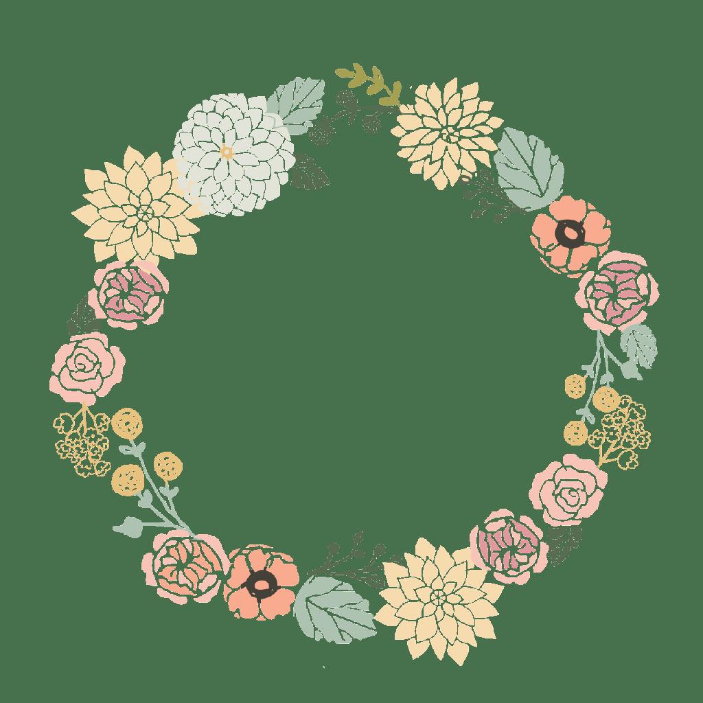 flower wreath png hd