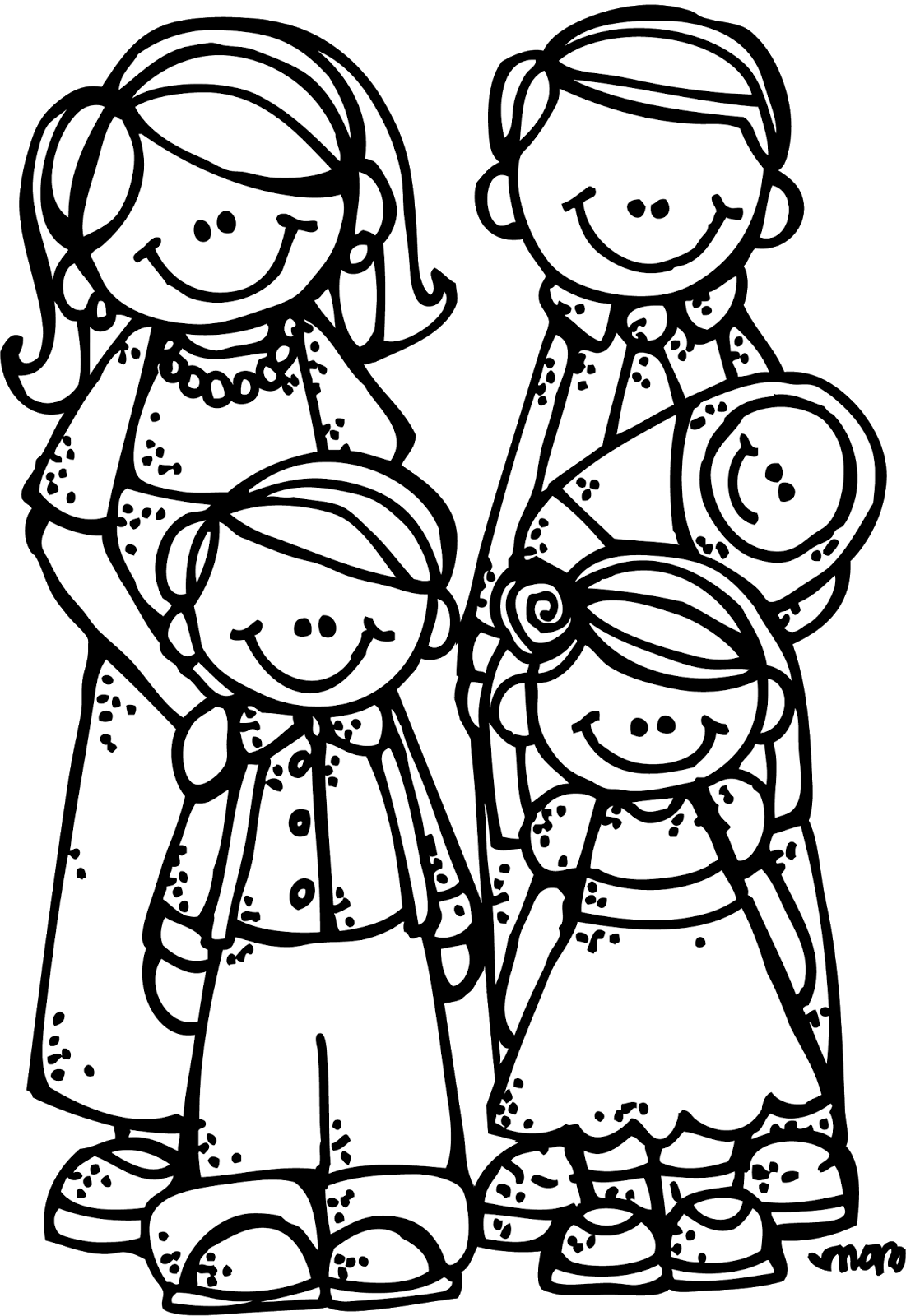 hight resolution of lds family clipart black and white clipartxtras throughout lds family clipart black and white 13021