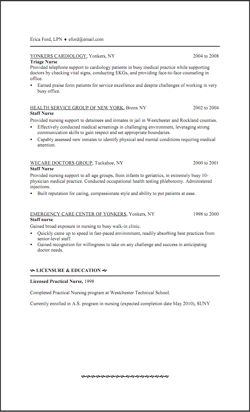 Example Lpn Resume Lpn Png Transparent Lpn Png Images Pluspng