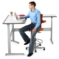 Sitting Posture On Chair In Office Pier 1 Accent Chairs Man At Desk Png Transparent Desk.png Images. | Pluspng