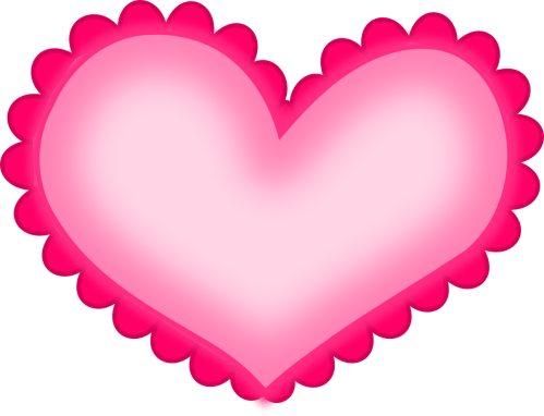 small resolution of hot pink heart png hd