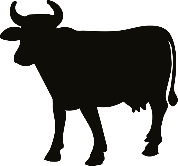 Cow Silhouette Clip Art Free
