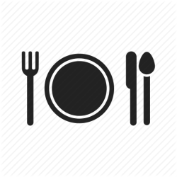 icon eat eating dinner food fork plate cooking knife spoon cook kitchen tableware restaurant icons thank transparent service severity voldemort