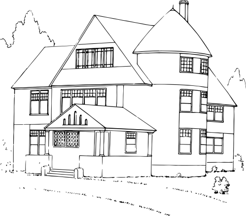 small resolution of house black and white clipart house png house black and white