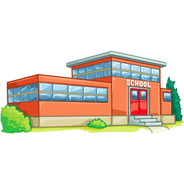 High School Buildings Clip Art
