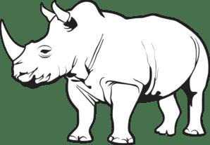 Rhino PNG Black And White Transparent Rhino Black And
