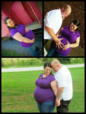 This is me and my husband when I was about 34 weeks pregnant with our beautiful son. I was extremely miserable taking these pictures it was so hot, and I was huge! Looking back I'm so grateful my sister pushed me to take them. I think being pregnant opened my eyes to how amazing my body really is.