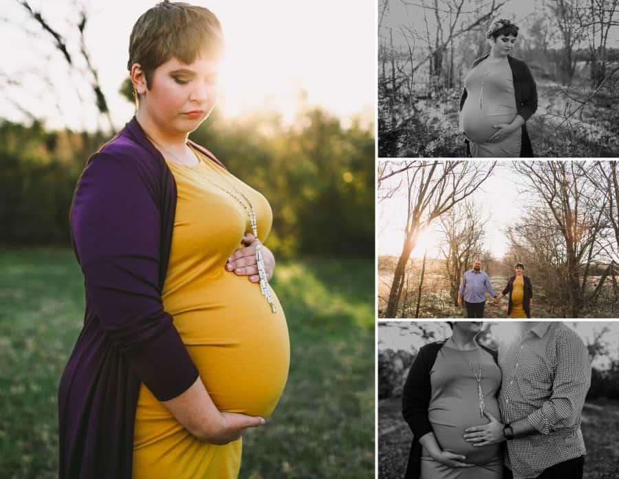 plus size maternity photo shoot