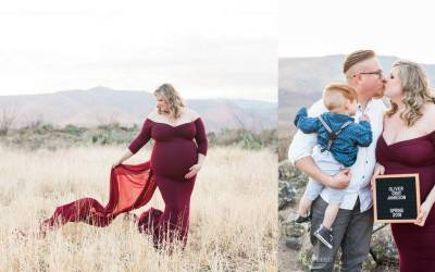 Lady In Red: My Dream Fitted Plus Size Maternity Dress