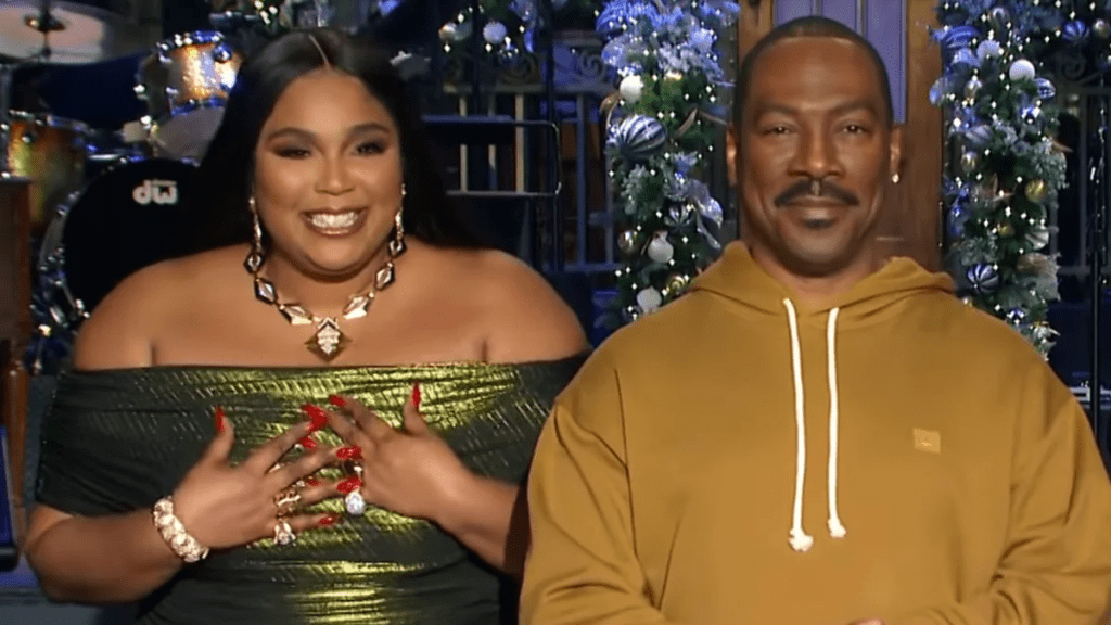 lizzo and eddie murphy on SNL