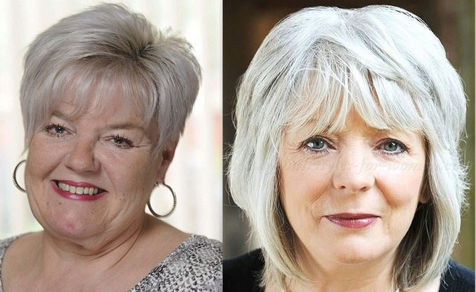 50 latest hairstyles for over 60 with round face 2019 - plus