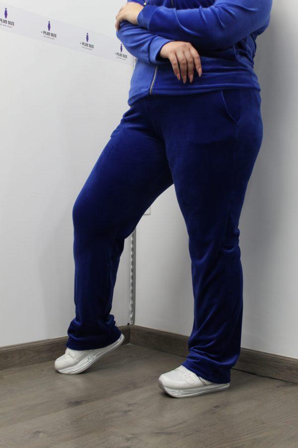 Παντελόνι μεγάλα μεγέθη πεντάτσεπο κουμπί μαύρο