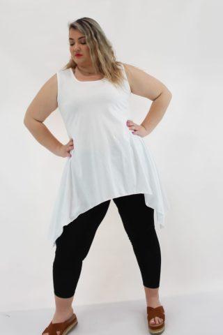 Κολάν μεγάλα μεγέθη με μήκος μέχρι τη γάμπα σε μαύρο χρώμα. Στο eshop μας θα βρείτε οικονομικά γυναίκεια ρούχα σε μεγάλα μεγέθη και υπερμεγέθη.