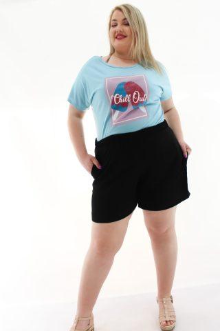 Σορτς μεγάλα μεγέθη με λάστιχο στη μέση και τσέπες..Στο eshop μας θα βρείτε οικονομικά γυναίκεια ρούχα σε μεγάλα μεγέθη και υπερμεγέθη.