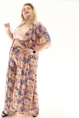 Τουνίκ florar μεγάλα μεγέθη μουσελίνα με κορδόνι στο στήθος.Στο eshop μας θα βρείτε οικονομικά γυναίκεια ρούχα σε μεγάλα μεγέθη και υπερμεγέθη.