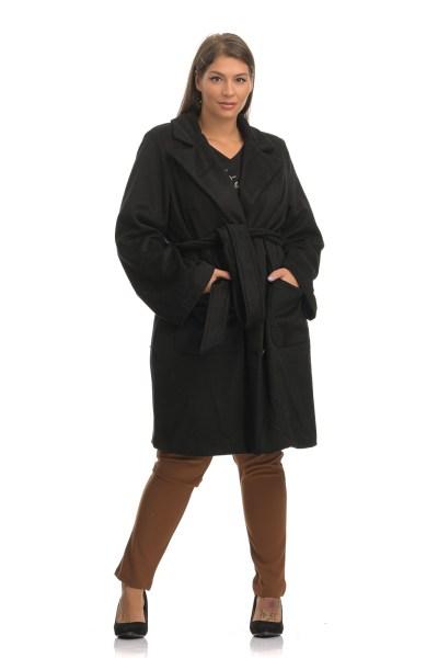 Παλτό φοδραρισμένο με πέτο και πλαϊνές τσέπες
