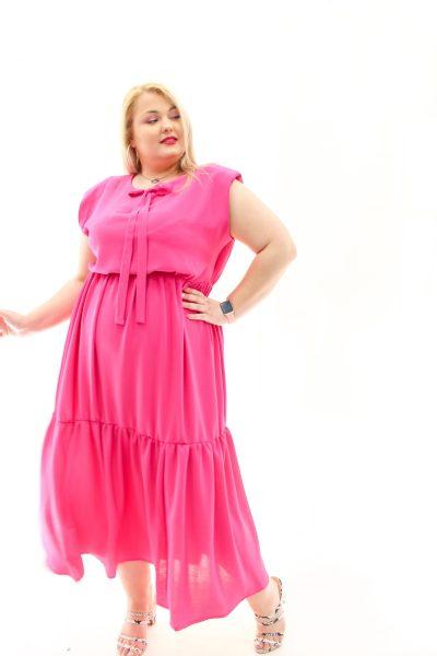 Φόρεμα με βάτες στους ώμους σε 4 χρώματα