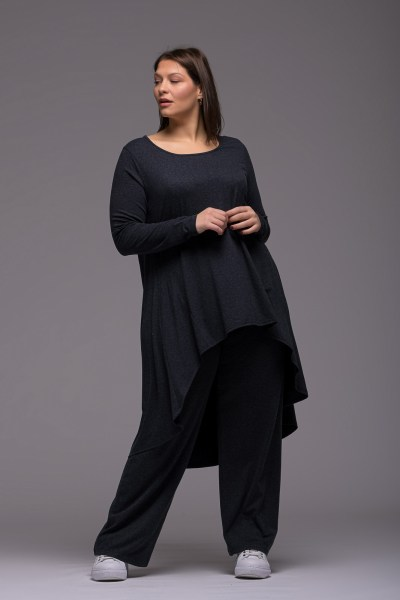 Μπλούζoφόρεμα +Psx γκρι ελαστική βισκόζ