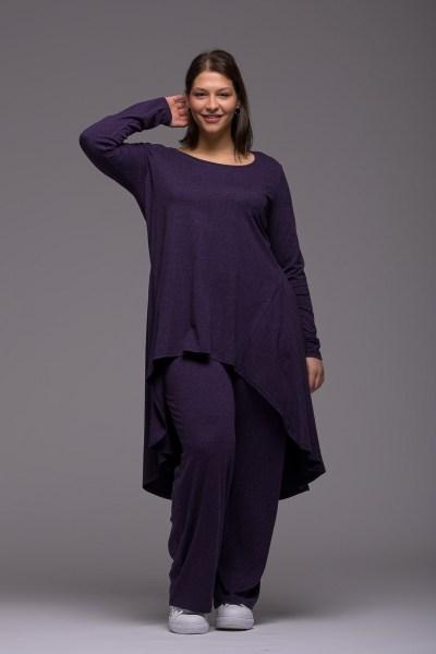 Μπλούζoφόρεμα +Psx μωβ ελαστική βισκόζ