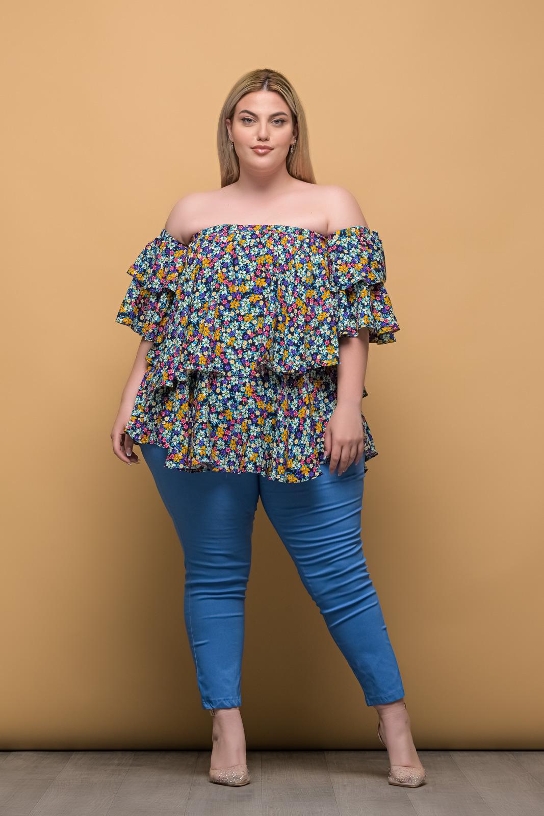 Παντελόνι μεγάλα μεγέθη ελαστική καμπαρντίνα indigo μέχρι τον αστράγαλο.Στο eshop μας θα βρείτε οικονομικά γυναίκεια ρούχα σε μεγάλα μεγέθη και υπερμεγέθη.