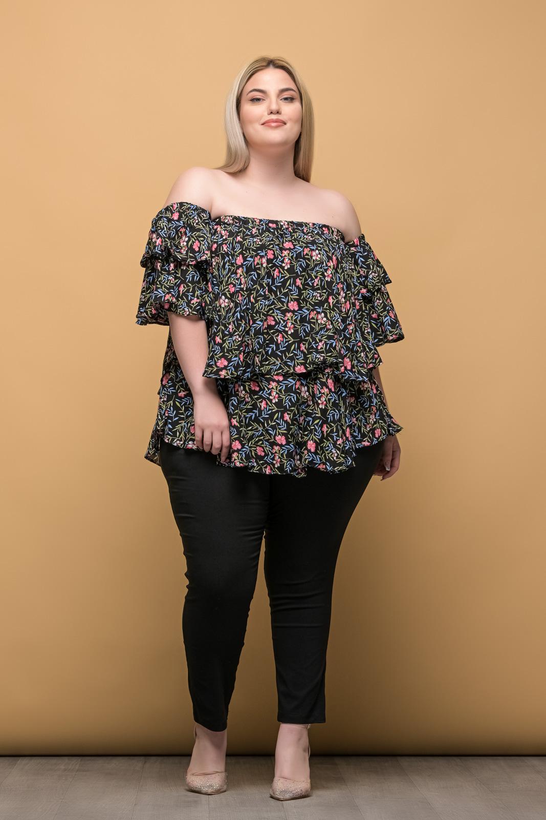Παντελόνι μεγάλα μεγέθη ελαστική καμπαρντίνα μαύρη μέχρι τον αστράγαλο.Στο eshop μας θα βρείτε οικονομικά γυναίκεια ρούχα σε μεγάλα μεγέθη και υπερμεγέθη.