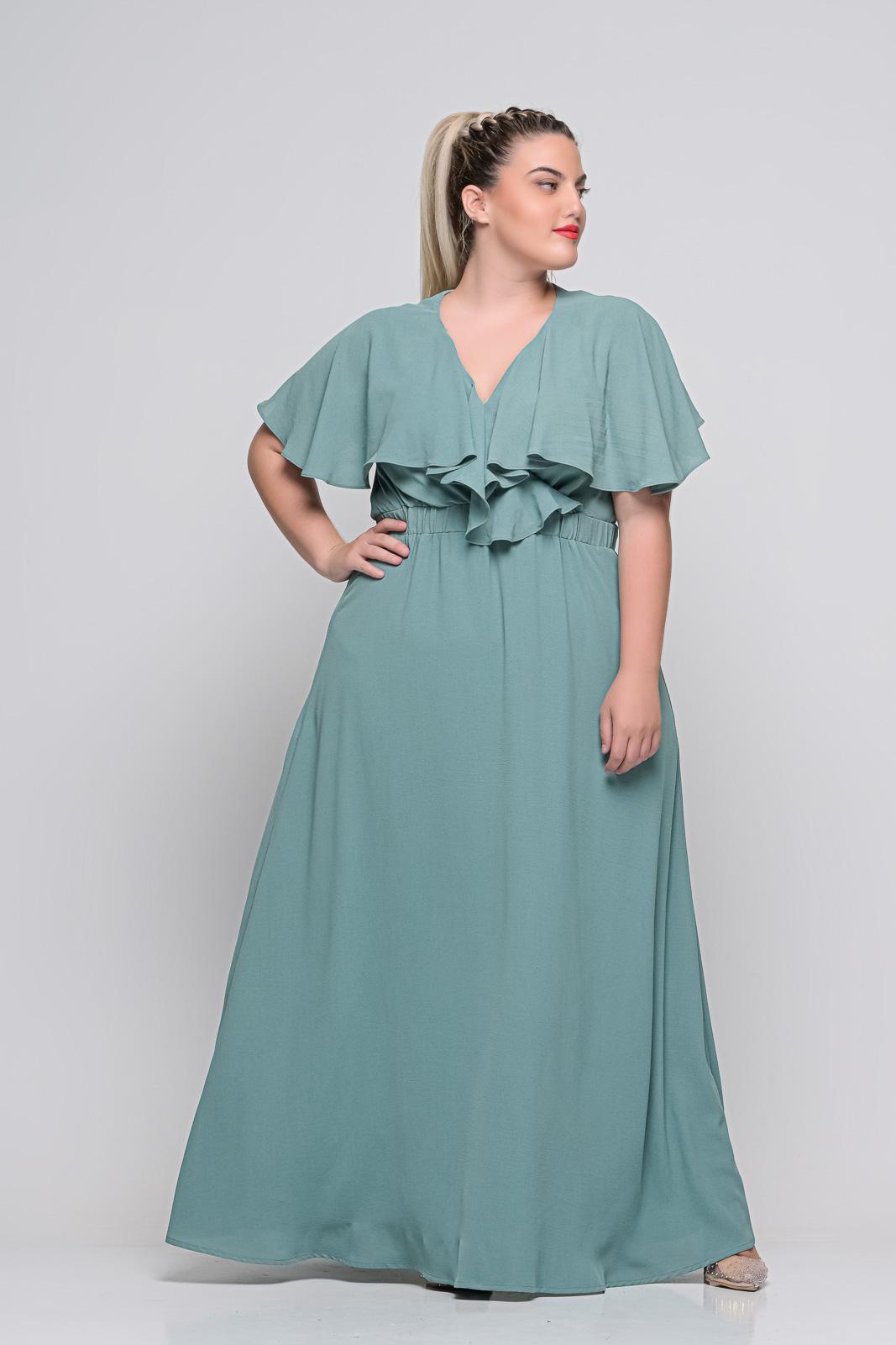 Φόρεμα μεγάλα μεγέθη κρουαζέ βεραμάν