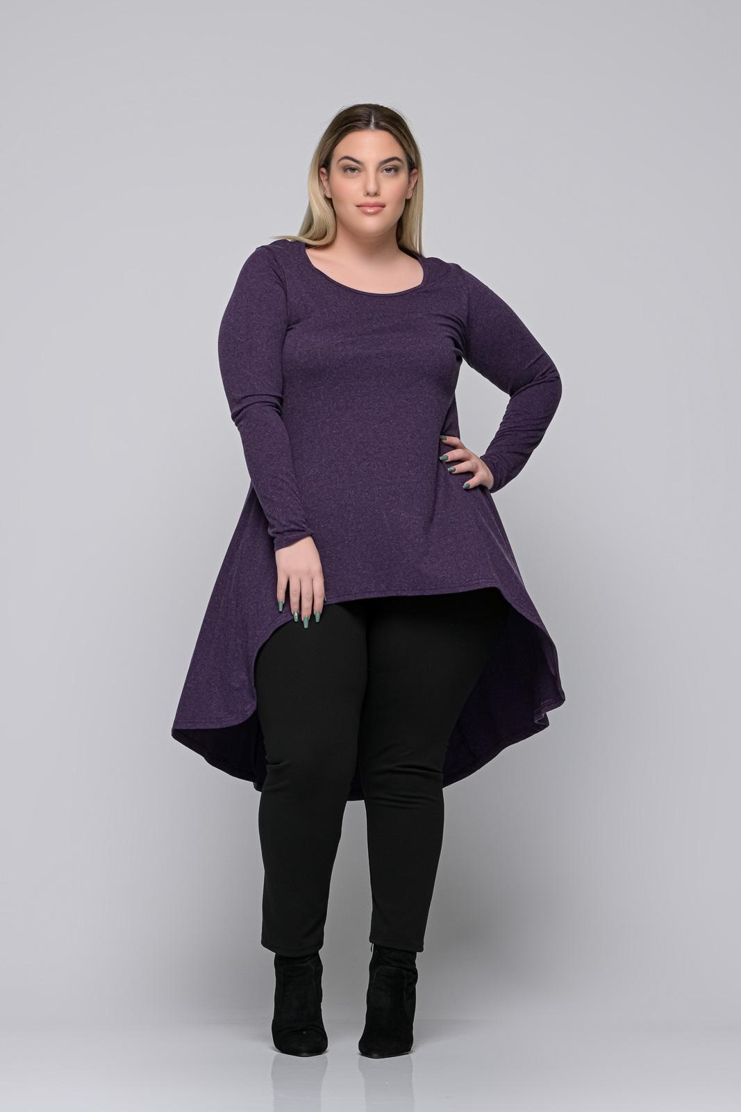 Μπλούζoφόρεμα μεγάλα μεγέθη +Psx μωβ ελαστική βισκόζ. Στο eshop μας θα βρείτε οικονομικά γυναίκεια ρούχα σε μεγάλα μεγέθη και υπερμεγέθη.