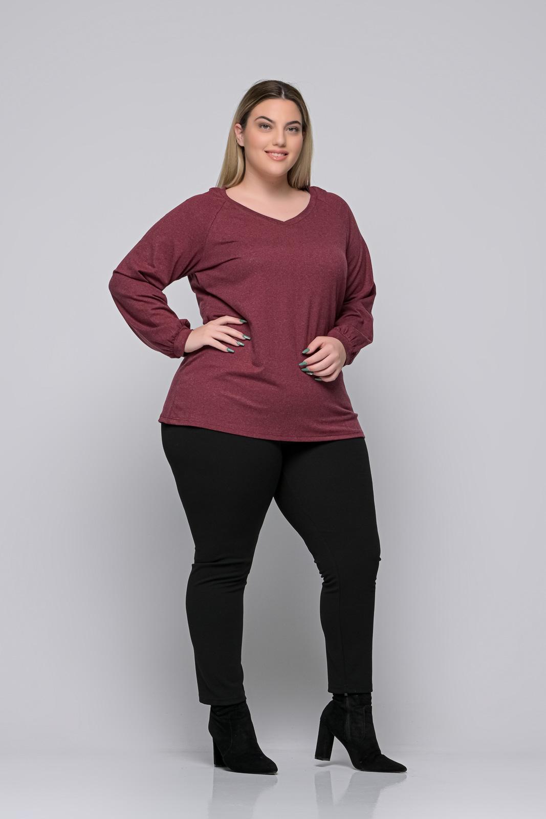 Μπλούζα μεγάλα μεγέθη +Psx μπορντό ελαστική βισκόζ. Στο eshop μας θα βρείτε οικονομικά γυναίκεια ρούχα σε μεγάλα μεγέθη και υπερμεγέθη.