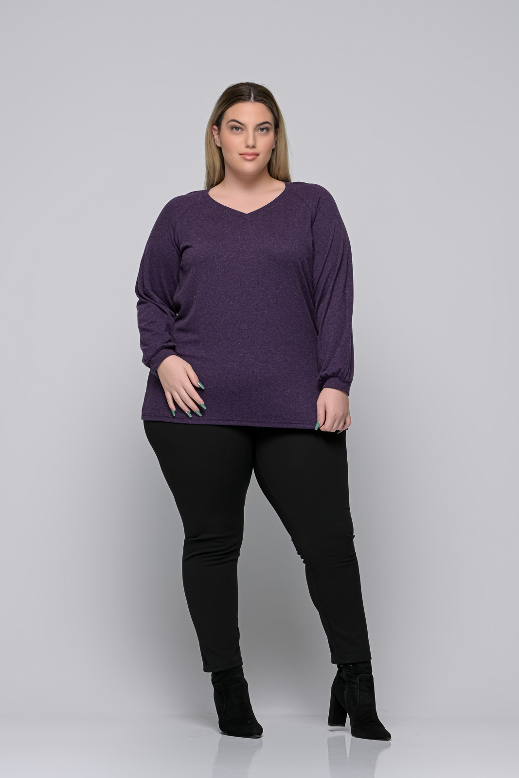 Μπλούζα μεγάλα μεγέθη+Psx μωβ ελαστική βισκόζ. Στο eshop μας θα βρείτε οικονομικά γυναίκεια ρούχα σε μεγάλα μεγέθη και υπερμεγέθη.