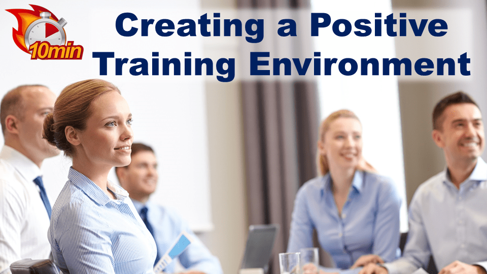 Creating a positive training environment - Pluto LMS Video Library