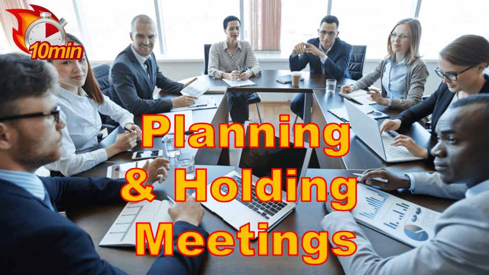 Planning and Holding Meetings