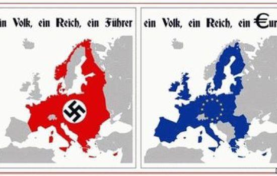 Сравнительная карта ЕС и Фашисткой Германии
