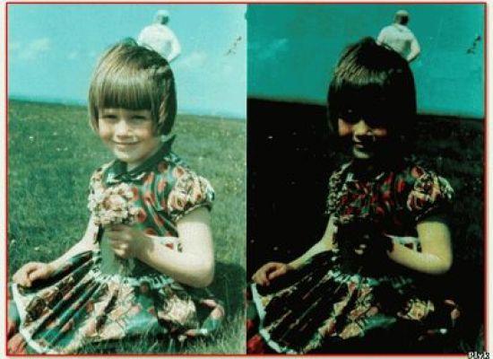 Загадочное фото девочки и астронавта