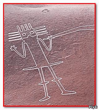 Есть рисунки пустыни Наска есть очень необычные