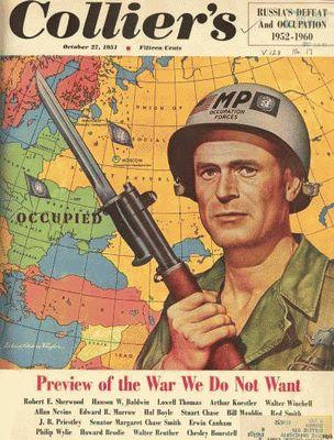 Обложка журнала с оккупантом России от 1951 года