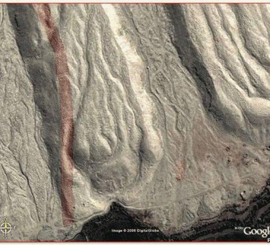 Перфолента на склоне Анд - Писко Valley, Перу