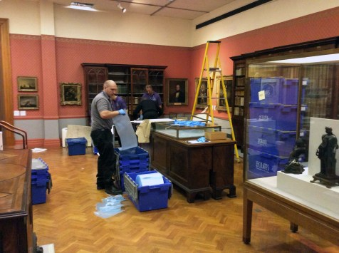 The books are then packed into crates