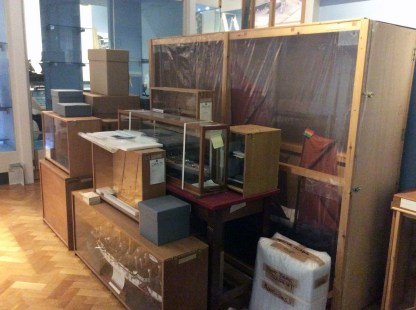 Lots of boxes and crates full of ship models