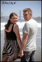 Kellie and Drew Livernois China Beach San Francisco Engagement Session Photos by Miss Ann