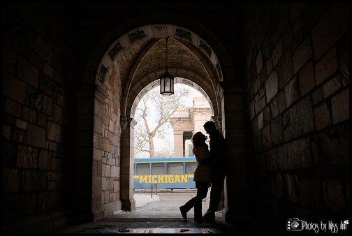 U of M Law Quad Engagement Session Photos by Miss Ann