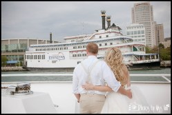 Detroit Princess Boat Wedding Photos Romantic Michigan Wedding Photos