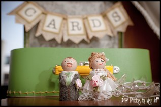 DIY Michigan Wedding Details Handmade Cake Topper and Card Box