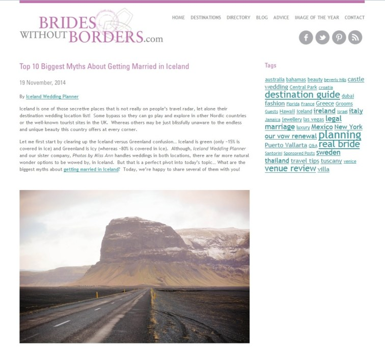 Photos by Miss Ann Featured on Brides without Borders